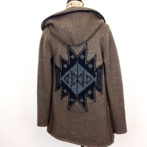 Silver Brand Hooded Open Front Cardigan XS